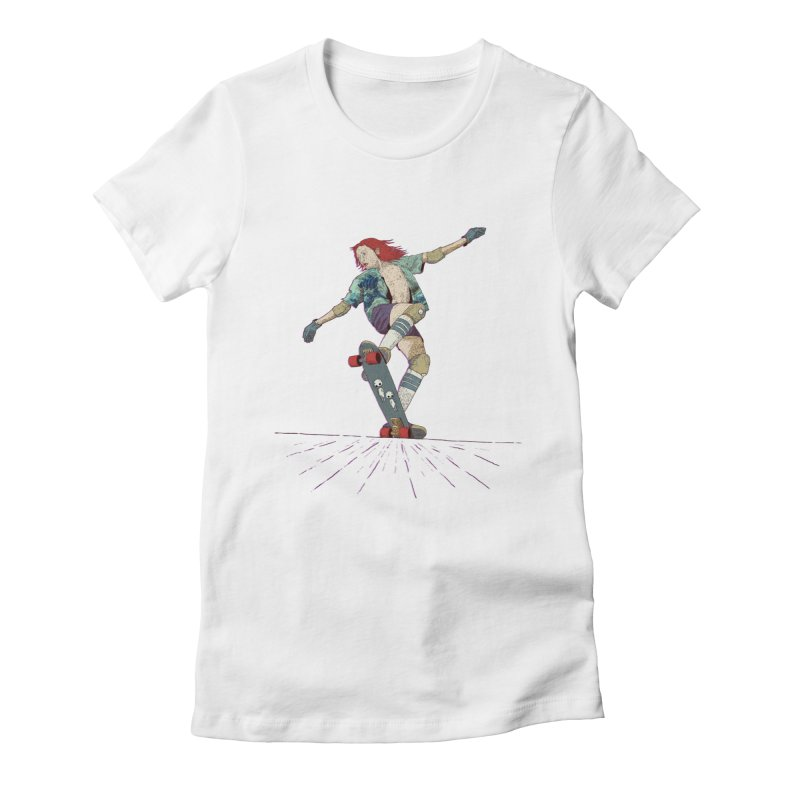 Skater Red Women's Fitted T-Shirt by · STUDI X-LEE ·