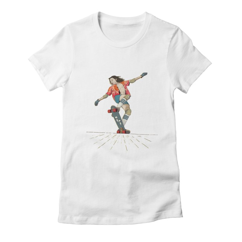 Skater Negra Women's Fitted T-Shirt by · STUDI X-LEE ·