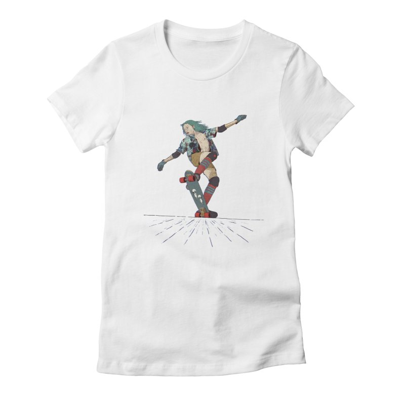 Skater Verd Women's Fitted T-Shirt by · STUDI X-LEE ·