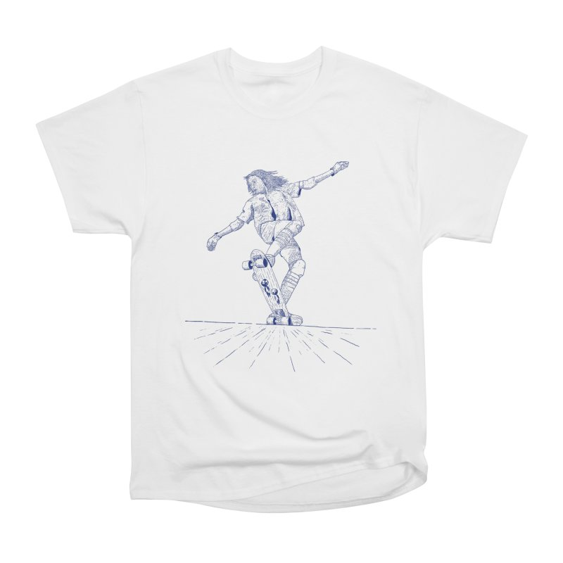 Skater linea Blau Women's Heavyweight Unisex T-Shirt by INK. ALPINA