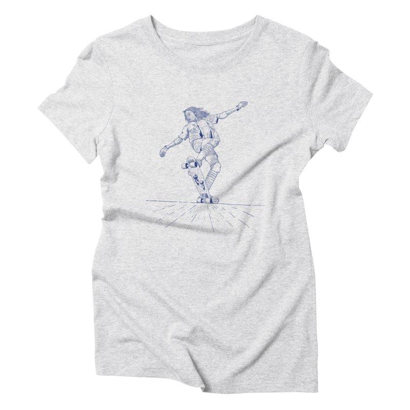 Skater linea Blau Women's T-Shirt by · STUDI X-LEE ·