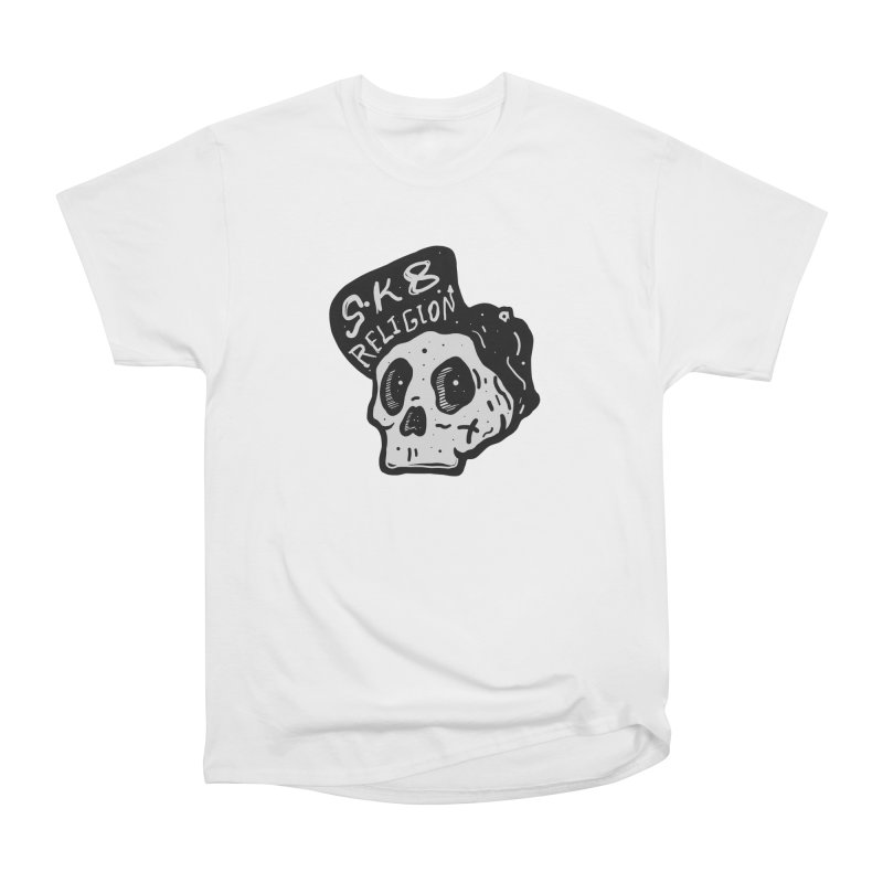 SK8 RELIGION Men's Heavyweight T-Shirt by INK. ALPINA