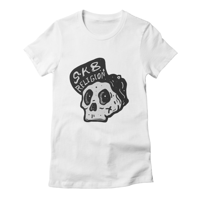 SK8 RELIGION Women's Fitted T-Shirt by · STUDI X-LEE ·
