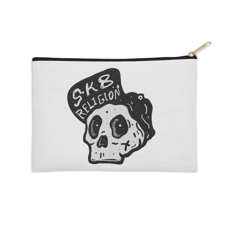 SK8 RELIGION Accessories Zip Pouch by INK. ALPINA