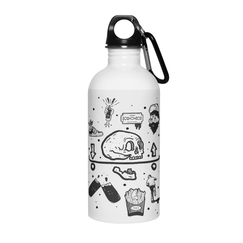 Calavera Pictogrames Accessories Water Bottle by INK. ALPINA