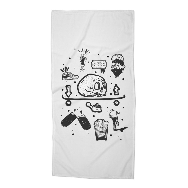 Calavera Pictogrames Accessories Beach Towel by · STUDI X-LEE ·