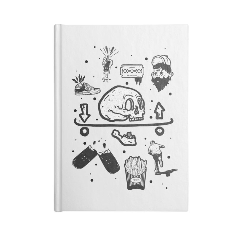 Calavera Pictogrames Accessories Lined Journal Notebook by · STUDI X-LEE ·