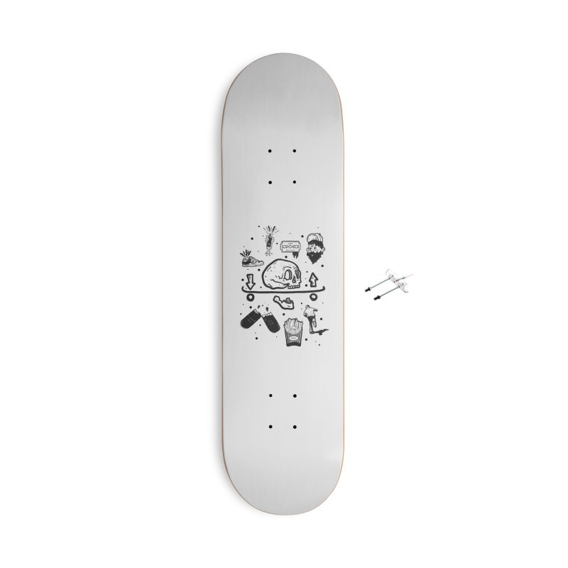 Calavera Pictogrames Accessories Skateboard by · STUDI X-LEE ·