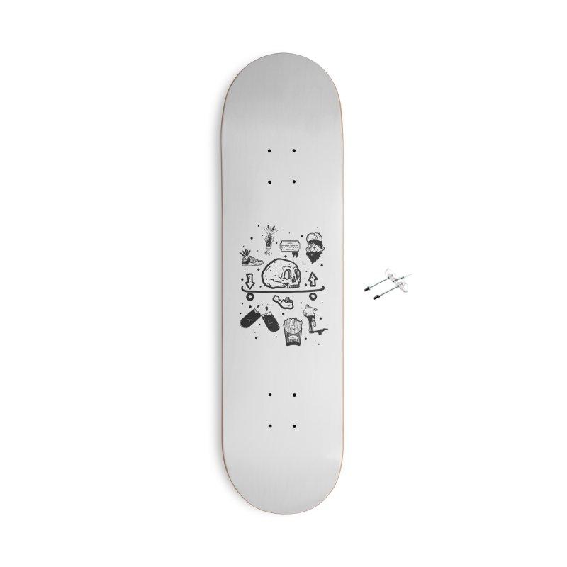 Calavera Pictogrames Accessories Skateboard by · STUDI X-LEE ·