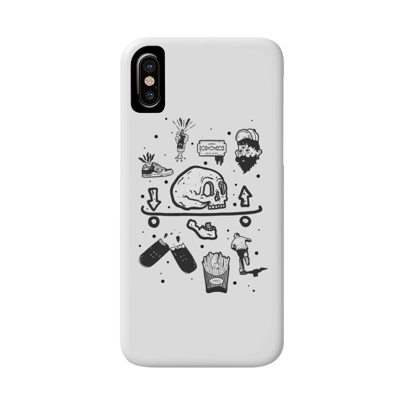 Calavera Pictogrames Accessories Phone Case by INK. ALPINA