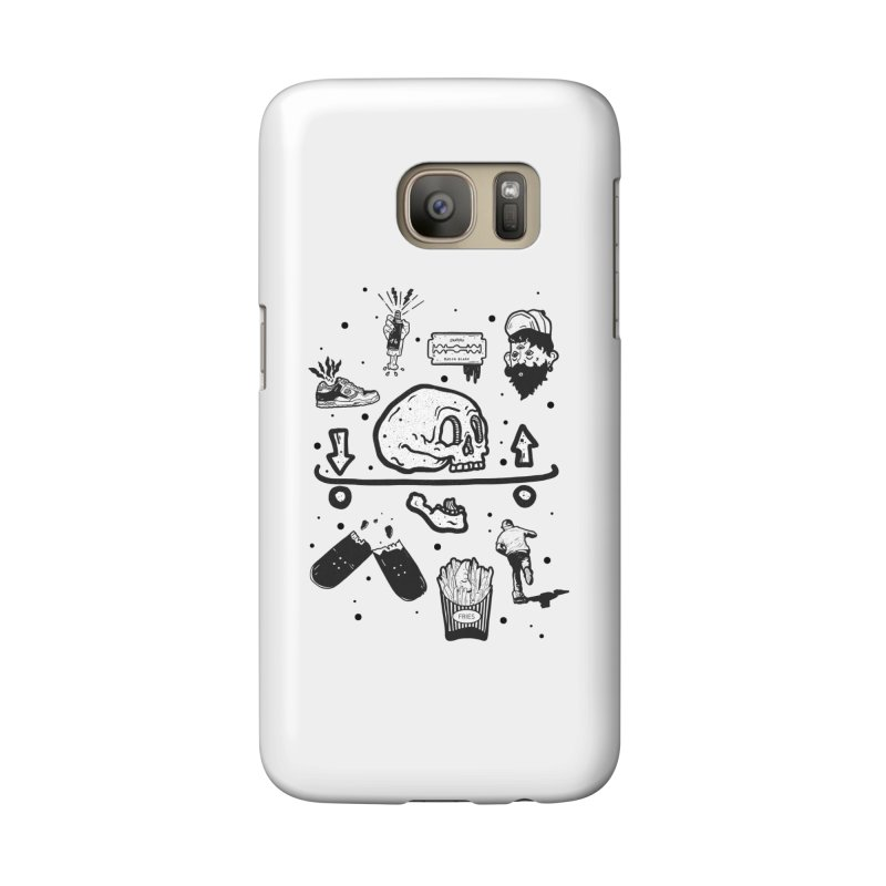 Calavera Pictogrames Accessories Phone Case by · STUDI X-LEE ·