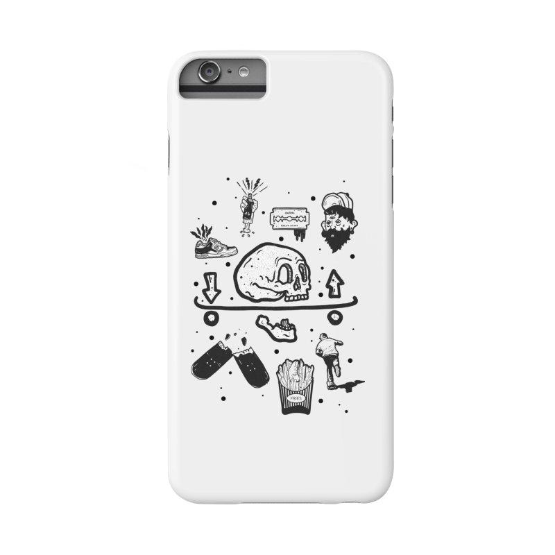 Calavera Pictogrames Accessories Phone Case by · STUDI X-LEE ·