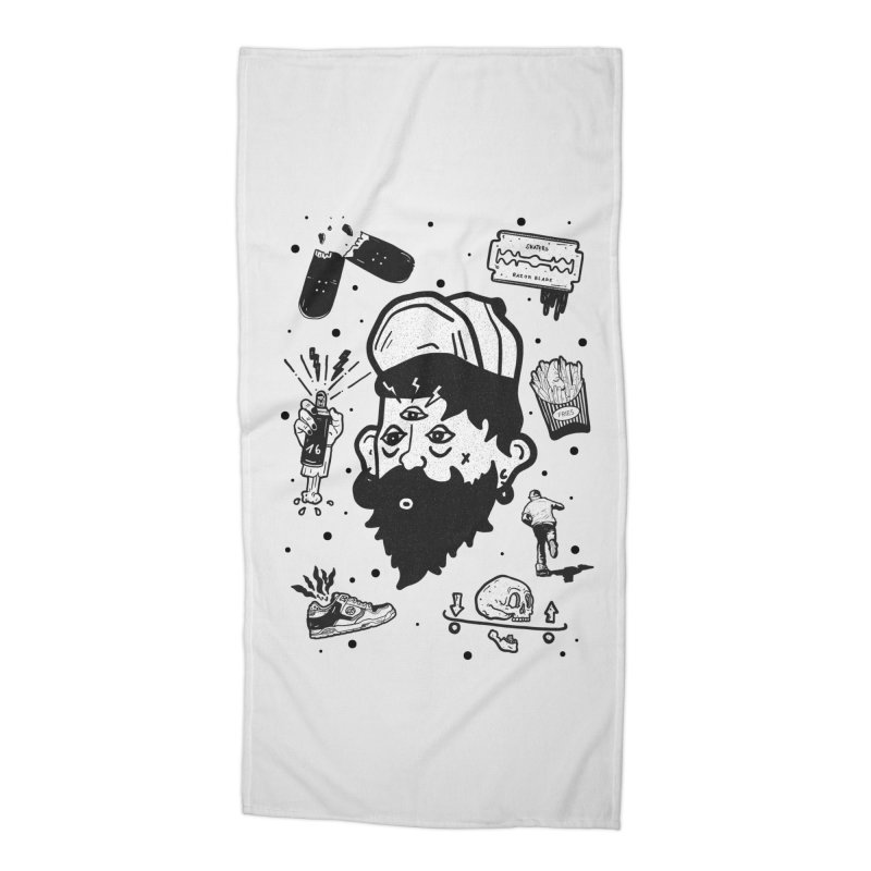 Sk8 Pictograma M01 Accessories Beach Towel by INK. ALPINA