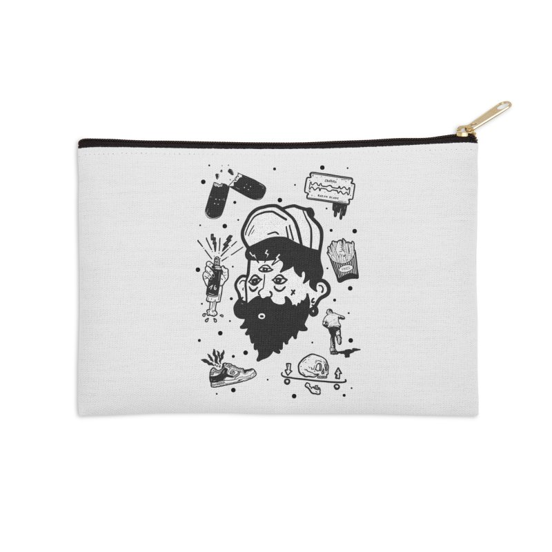 Sk8 Pictograma M01 Accessories Zip Pouch by INK. ALPINA