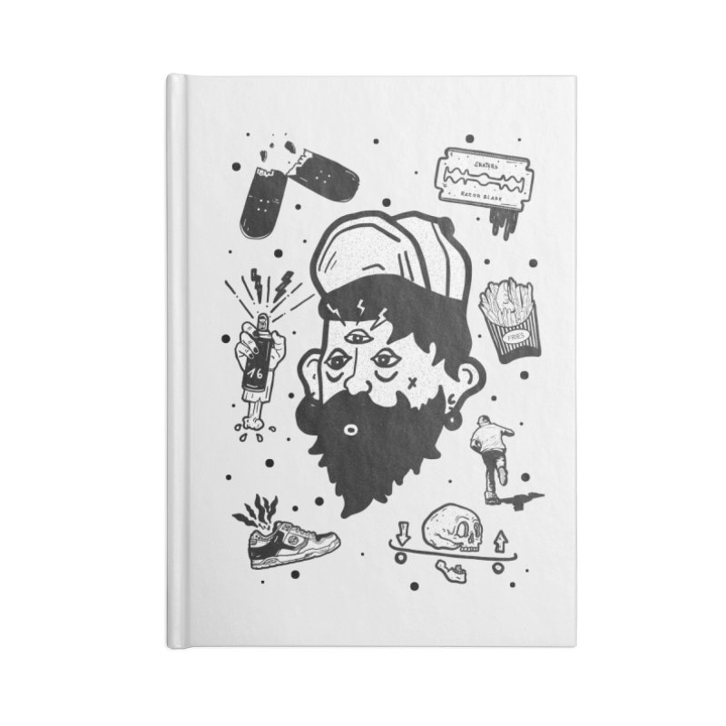 Sk8 Pictograma M01 Accessories Lined Journal Notebook by · STUDI X-LEE ·