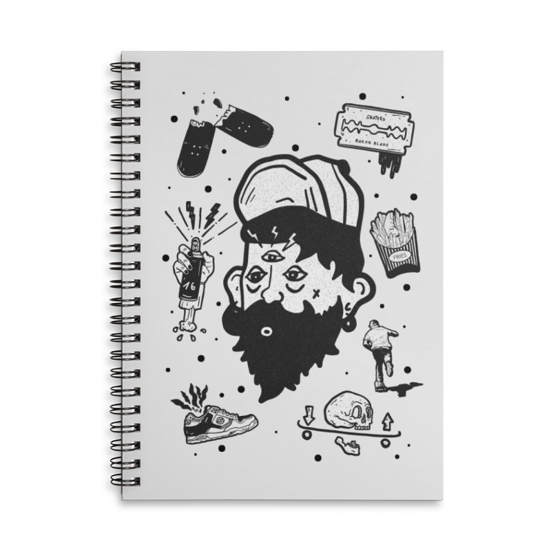 Sk8 Pictograma M01 Accessories Lined Spiral Notebook by · STUDI X-LEE ·