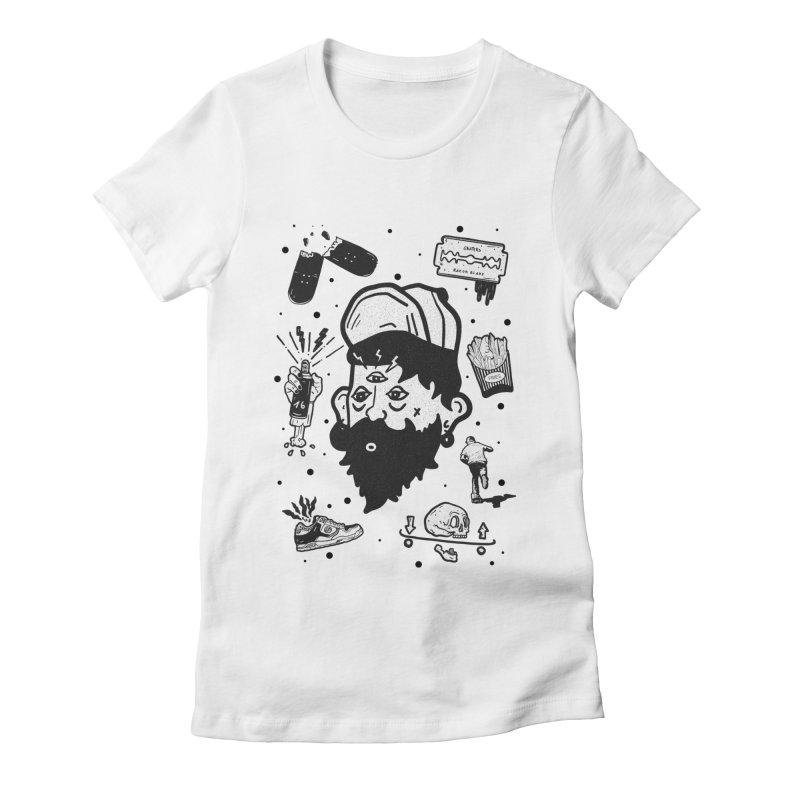 Sk8 Pictograma M01 Women's Fitted T-Shirt by INK. ALPINA