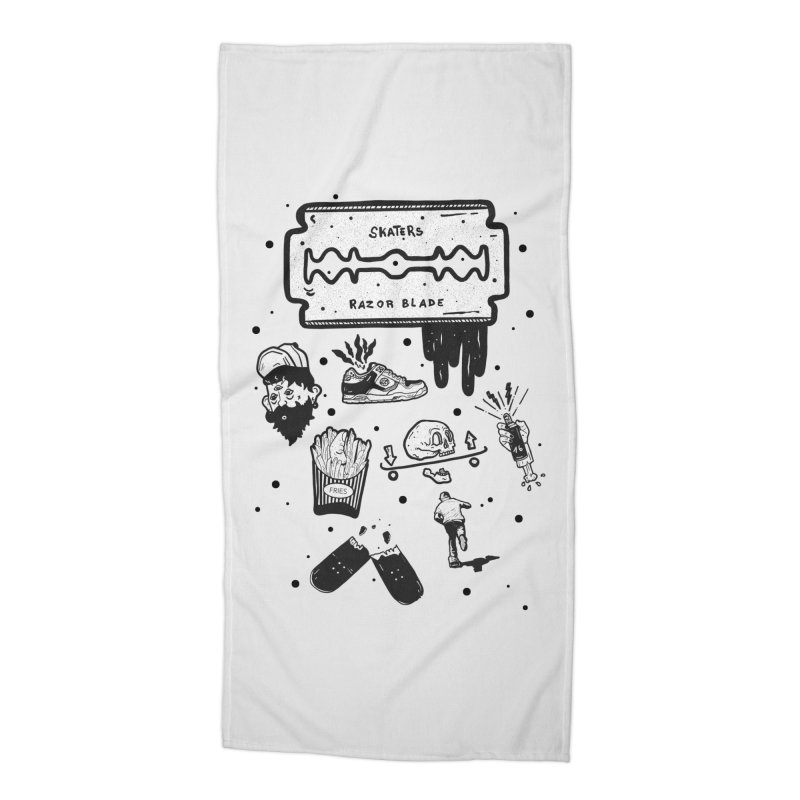 Sk8 Pictogrames M02 Accessories Beach Towel by INK. ALPINA