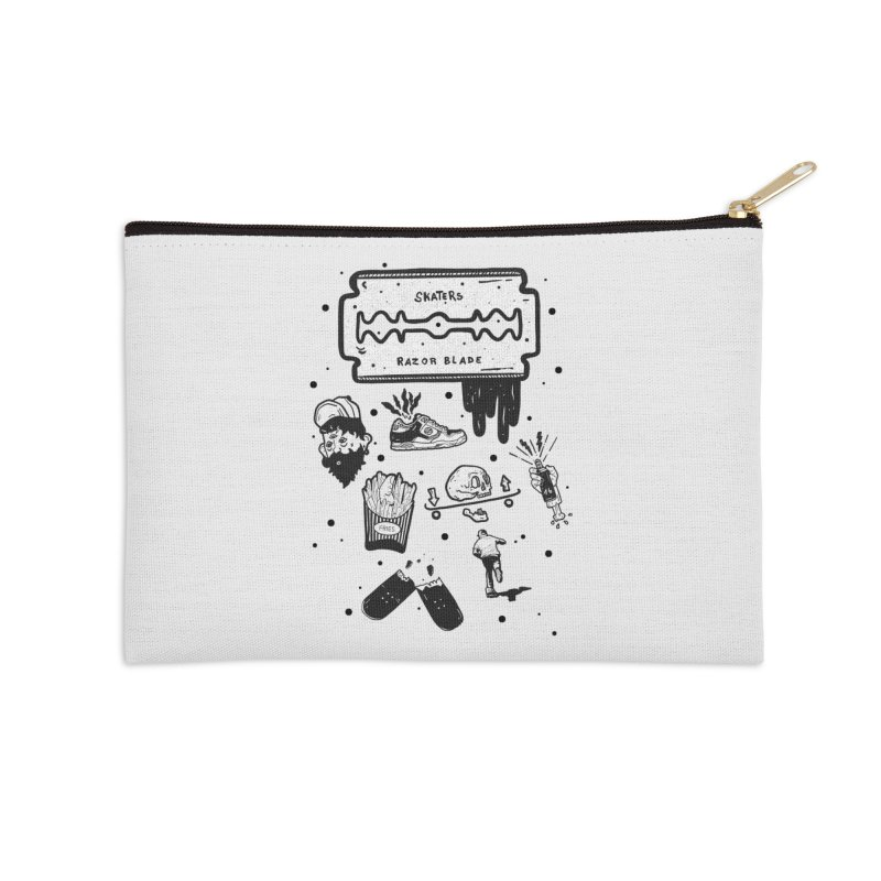 Sk8 Pictogrames M02 Accessories Zip Pouch by INK. ALPINA