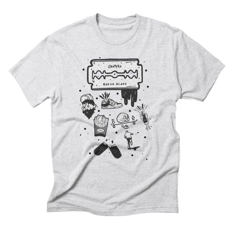Sk8 Pictogrames M02 Men's Triblend T-Shirt by · STUDI X-LEE ·