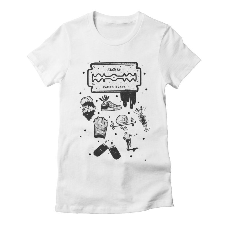 Sk8 Pictogrames M02 Women's Fitted T-Shirt by · STUDI X-LEE ·