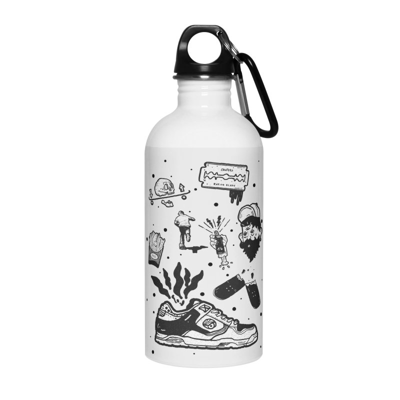 Sk8 pictogrames M03 Accessories Water Bottle by INK. ALPINA