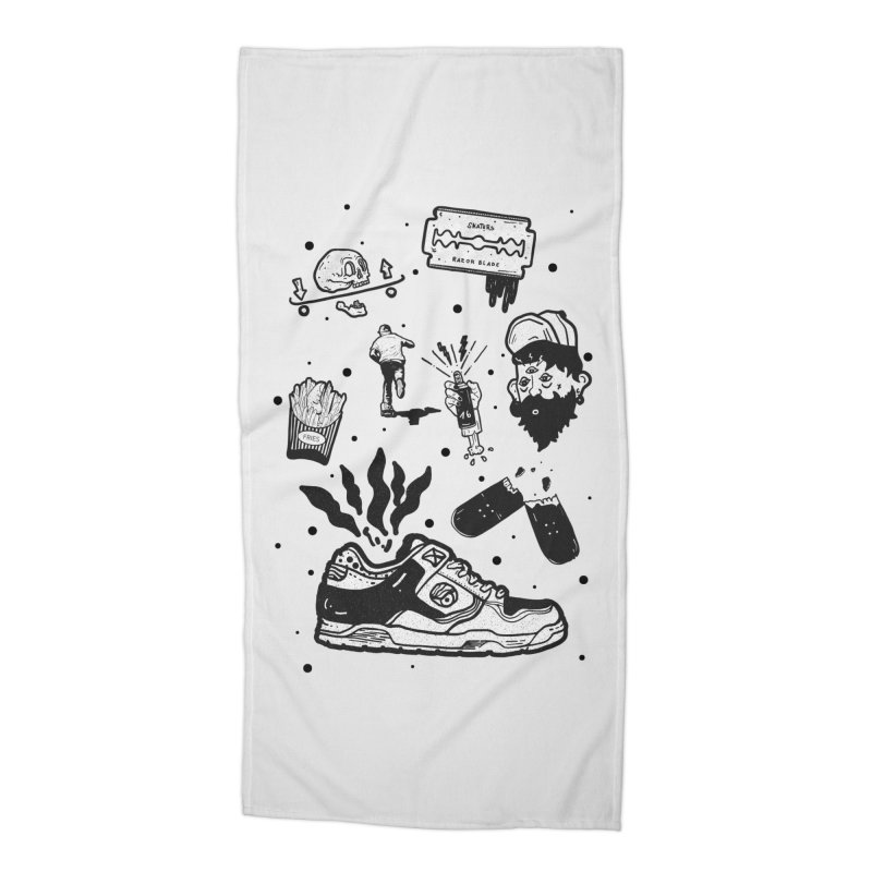 Sk8 pictogrames M03 Accessories Beach Towel by INK. ALPINA