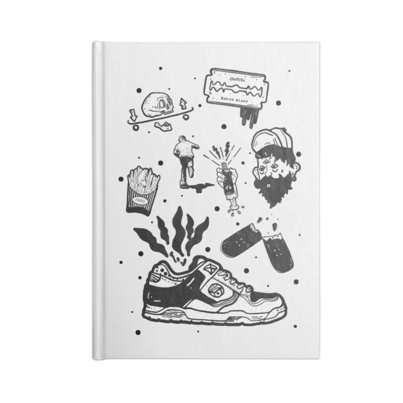 Sk8 pictogrames M03 Accessories Lined Journal Notebook by · STUDI X-LEE ·