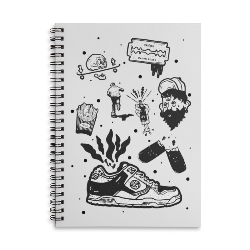 Sk8 pictogrames M03 Accessories Lined Spiral Notebook by · STUDI X-LEE ·