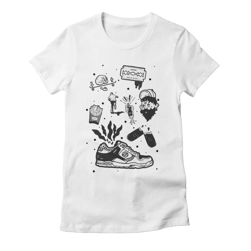 Sk8 pictogrames M03 Women's Fitted T-Shirt by · STUDI X-LEE ·