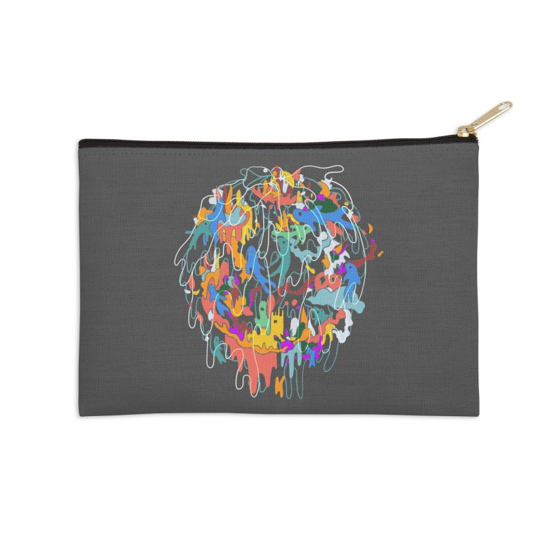 ABSTRACTSUMMER Accessories Zip Pouch by INK. ALPINA