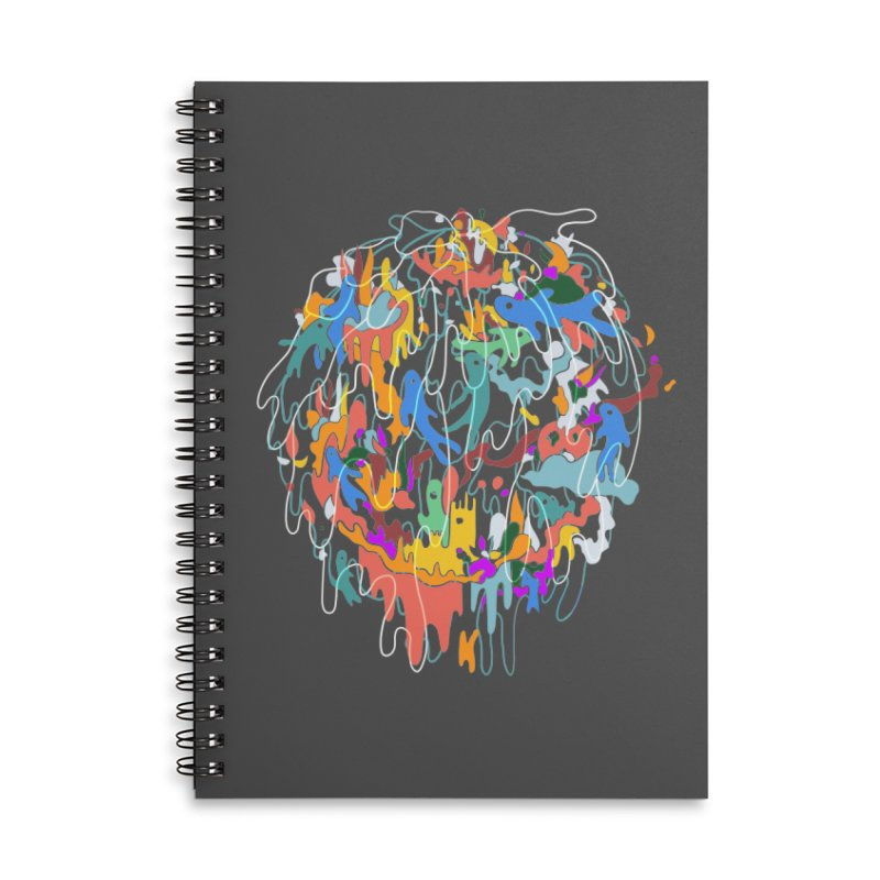 ABSTRACTSUMMER Accessories Lined Spiral Notebook by · STUDI X-LEE ·