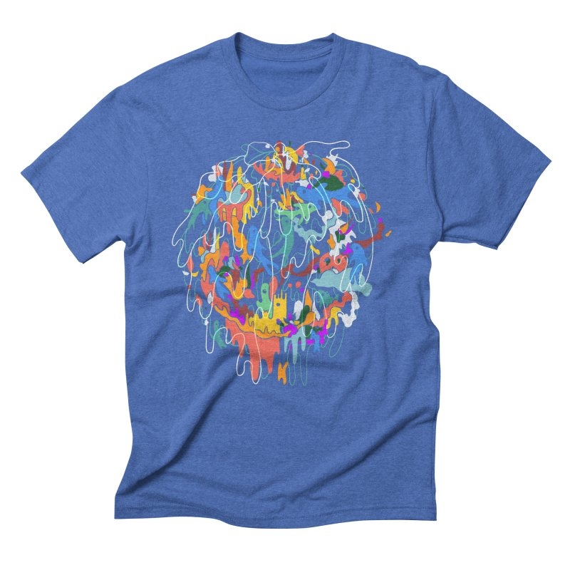 ABSTRACTSUMMER Men's Triblend T-Shirt by INK. ALPINA