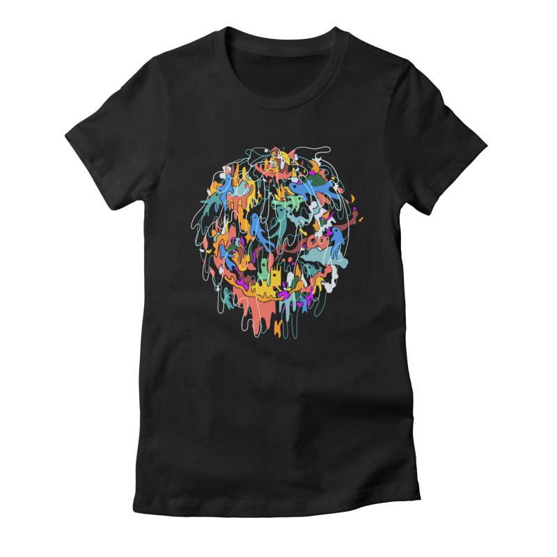 ABSTRACTSUMMER Women's Fitted T-Shirt by · STUDI X-LEE ·