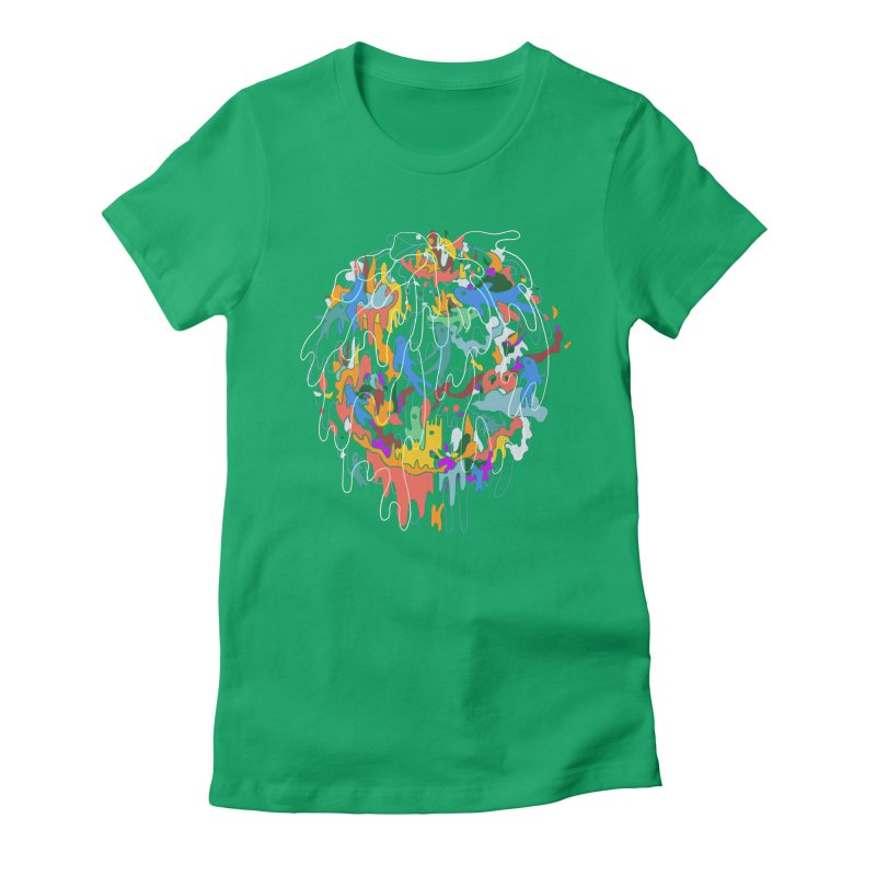 ABSTRACTSUMMER Women's Fitted T-Shirt by INK. ALPINA