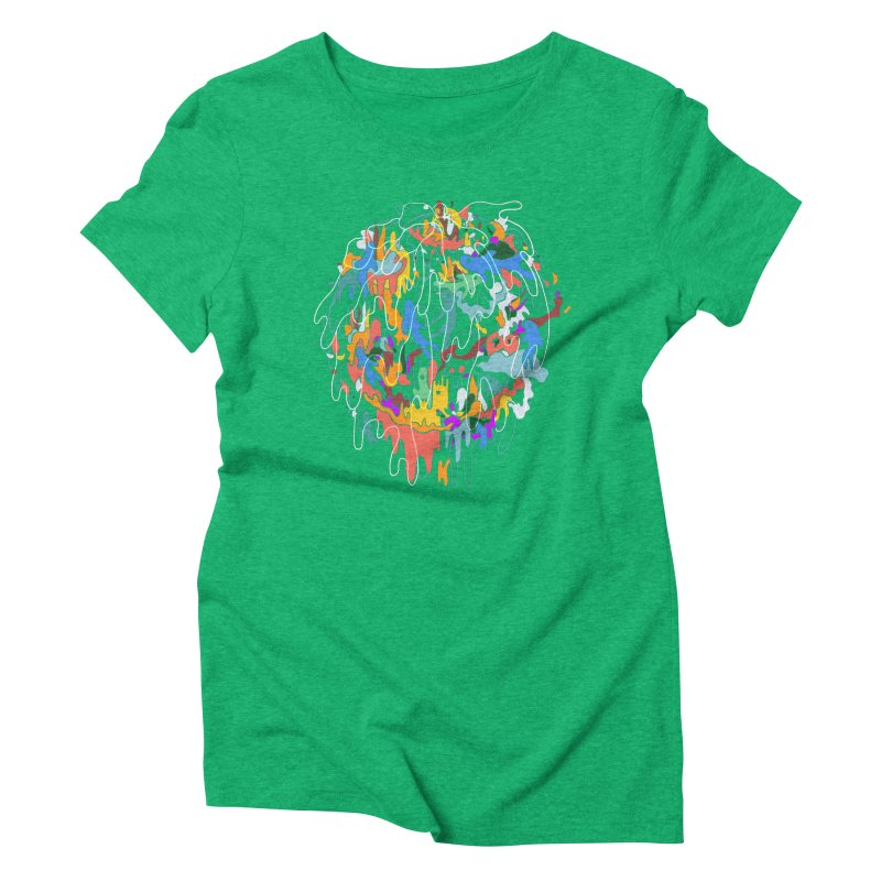 ABSTRACTSUMMER Women's Triblend T-Shirt by · STUDI X-LEE ·