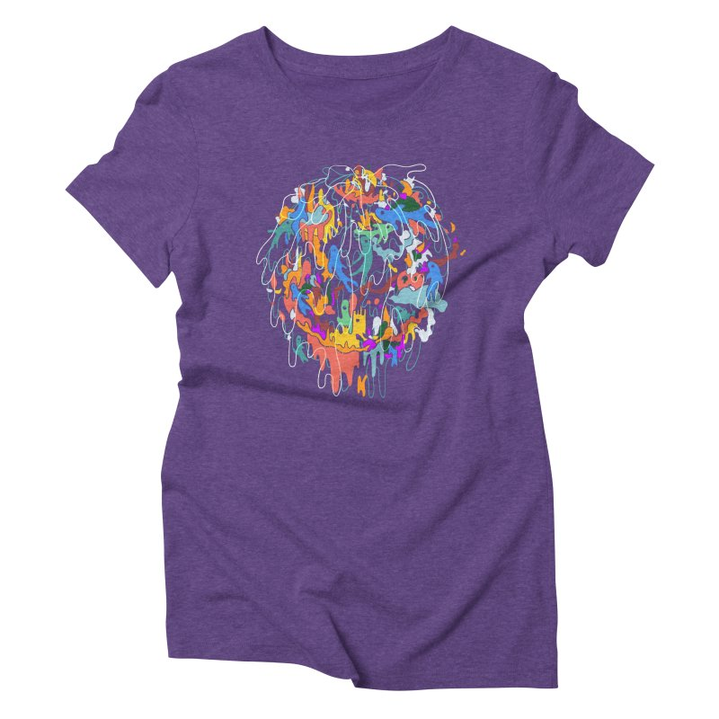 ABSTRACTSUMMER Women's Triblend T-Shirt by · STUDI X-LEE ·