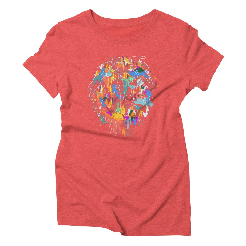 ABSTRACTSUMMER Women's Triblend T-Shirt by INK. ALPINA
