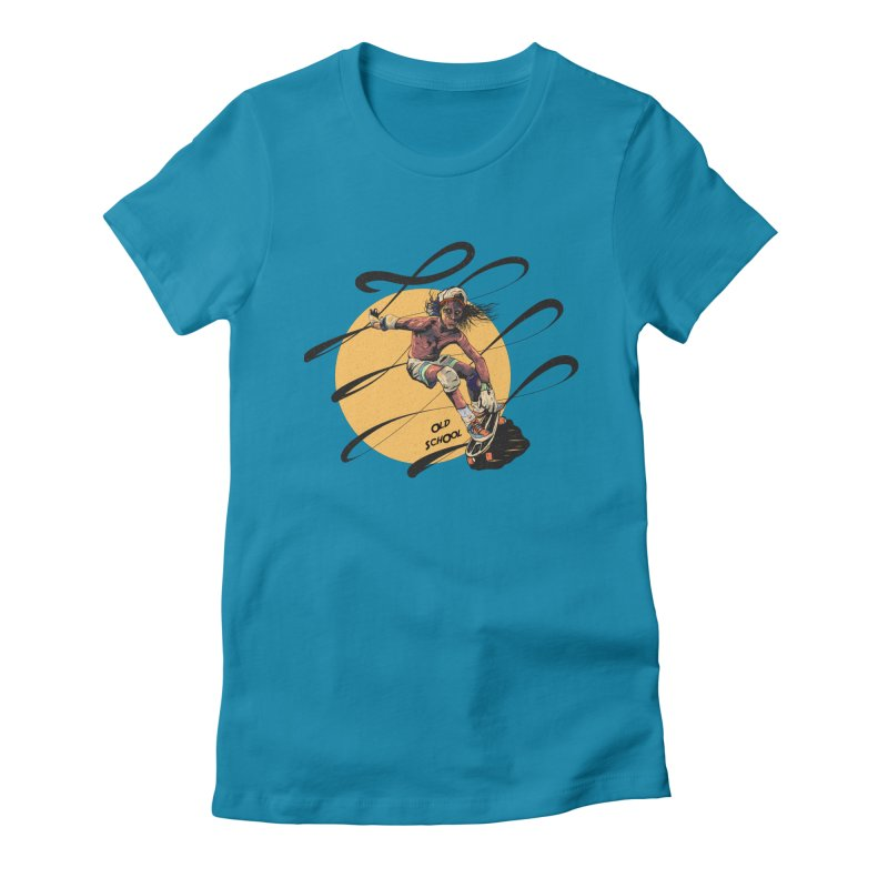 skater80 Women's Fitted T-Shirt by INK. ALPINA