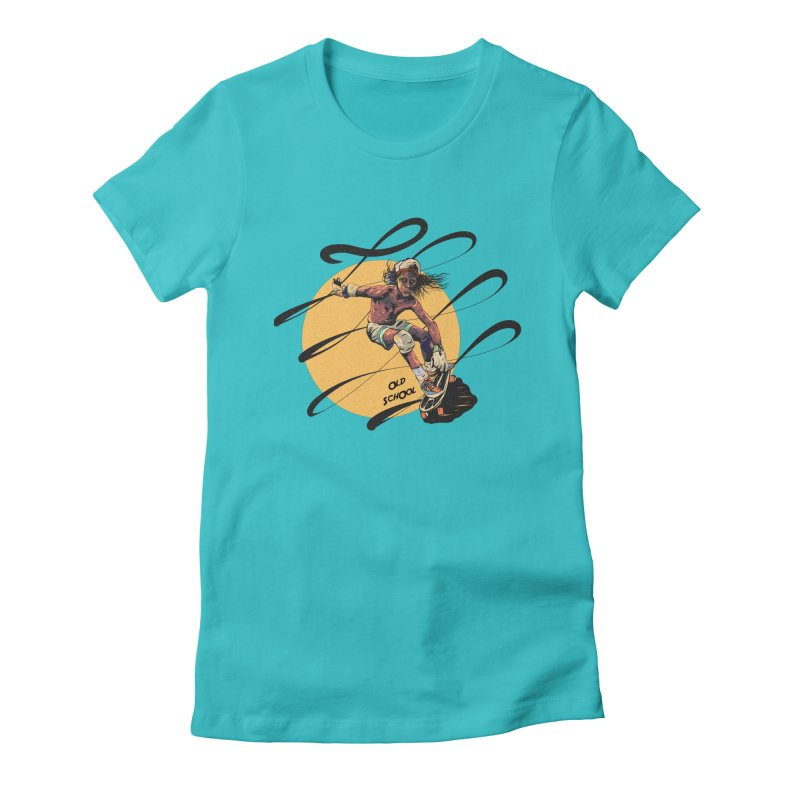 skater80 Women's Fitted T-Shirt by · STUDI X-LEE ·