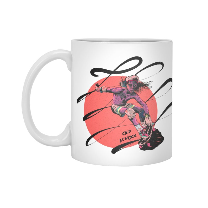 Skater80 Red Accessories Mug by INK. ALPINA