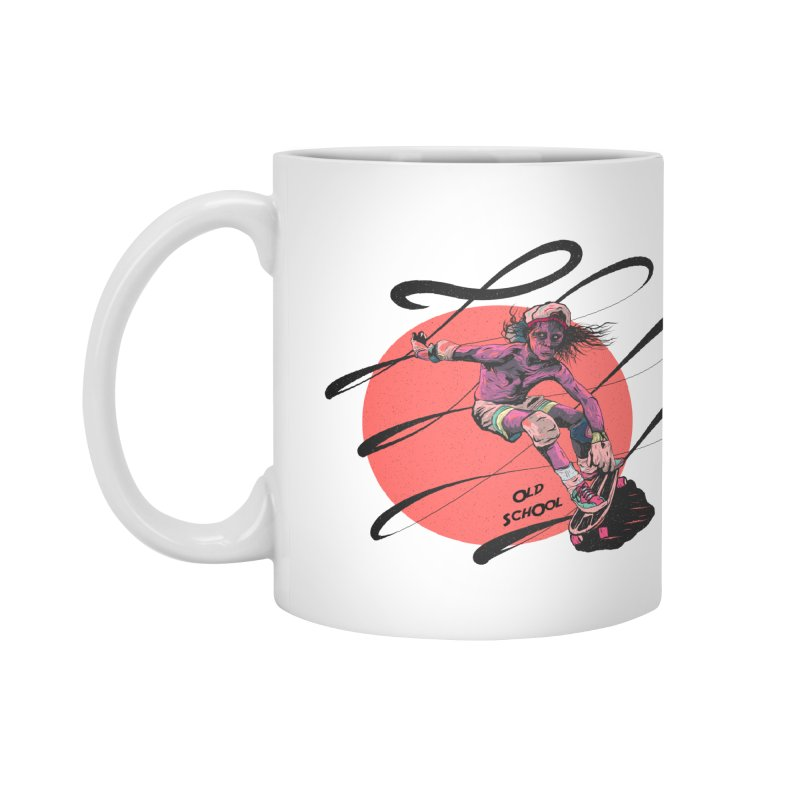 Skater80 Red Accessories Mug by · STUDI X-LEE ·