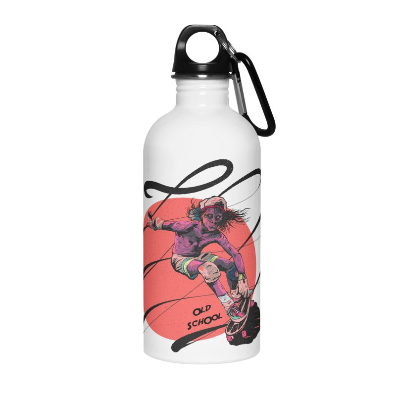 Skater80 Red Accessories Water Bottle by INK. ALPINA