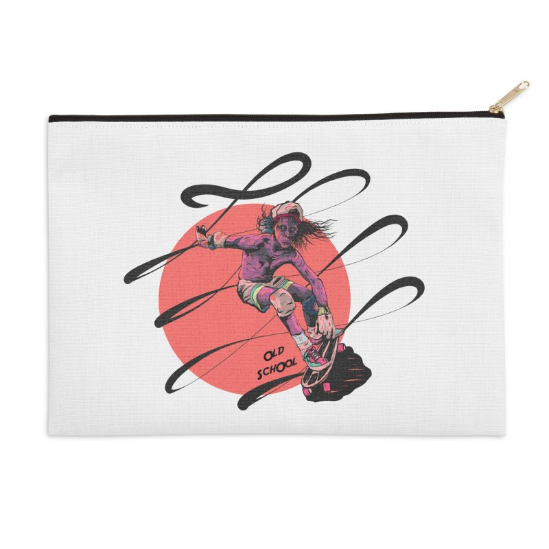 Skater80 Red Accessories Zip Pouch by · STUDI X-LEE ·