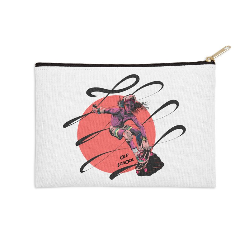 Skater80 Red Accessories Zip Pouch by INK. ALPINA