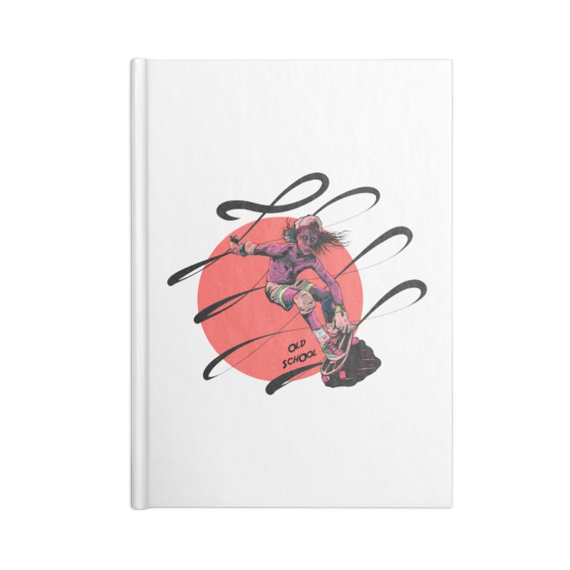 Skater80 Red Accessories Blank Journal Notebook by · STUDI X-LEE ·