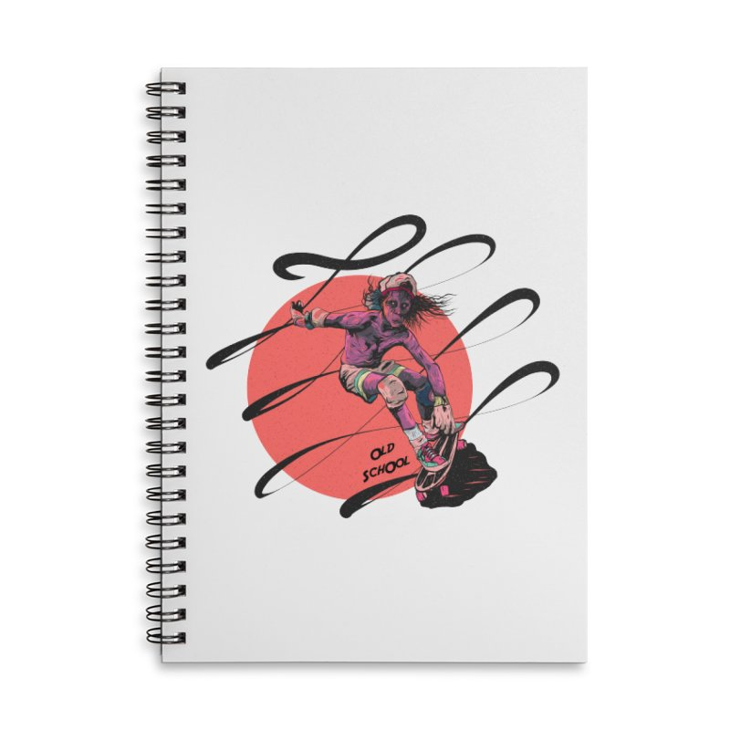 Skater80 Red Accessories Lined Spiral Notebook by · STUDI X-LEE ·