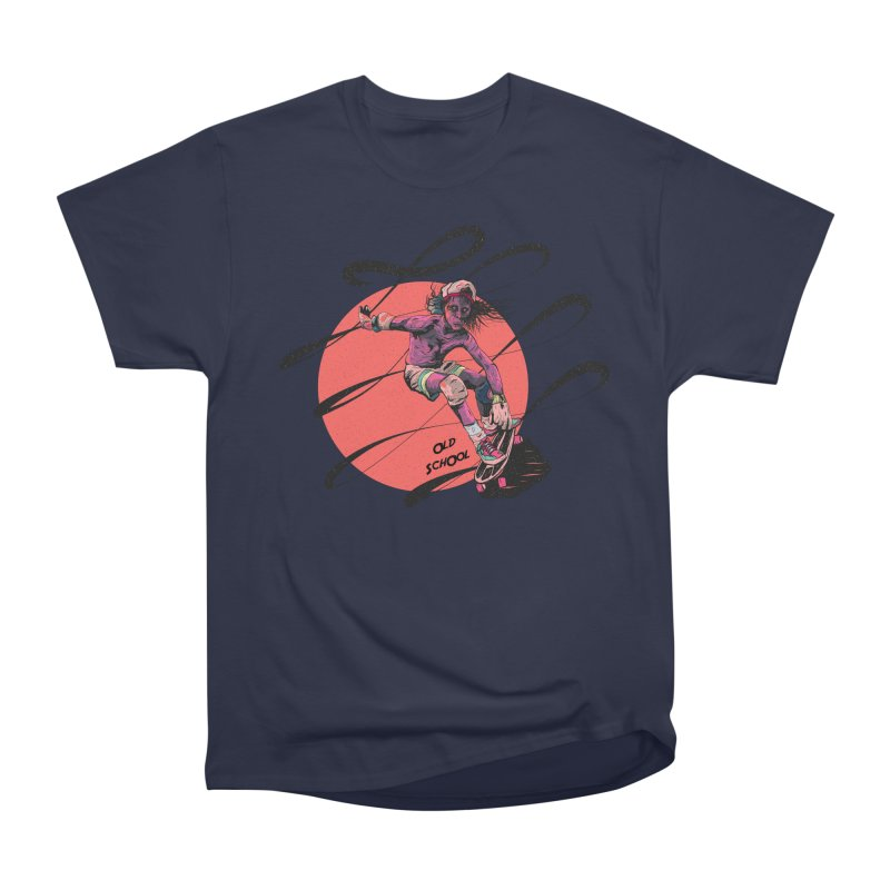 Skater80 Red Women's Heavyweight Unisex T-Shirt by INK. ALPINA