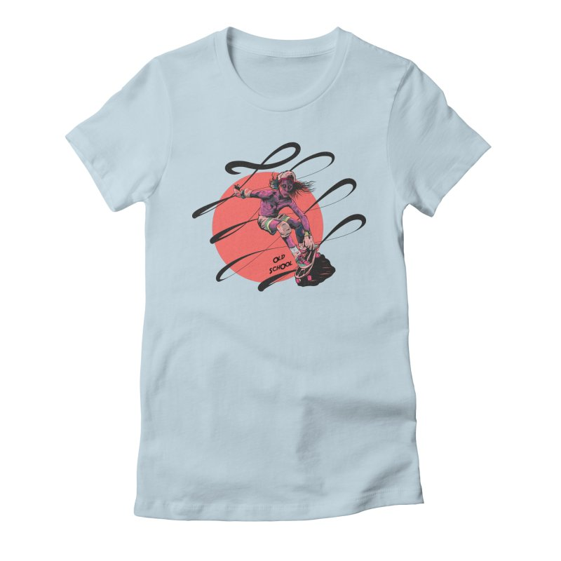 Skater80 Red Women's Fitted T-Shirt by · STUDI X-LEE ·