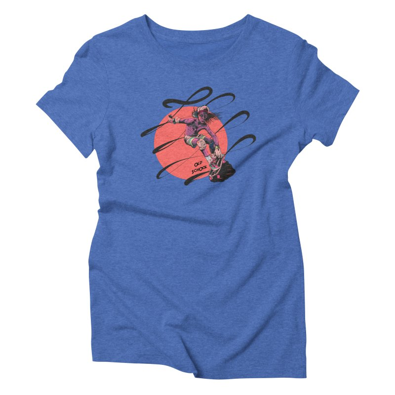 Skater80 Red Women's Triblend T-Shirt by INK. ALPINA
